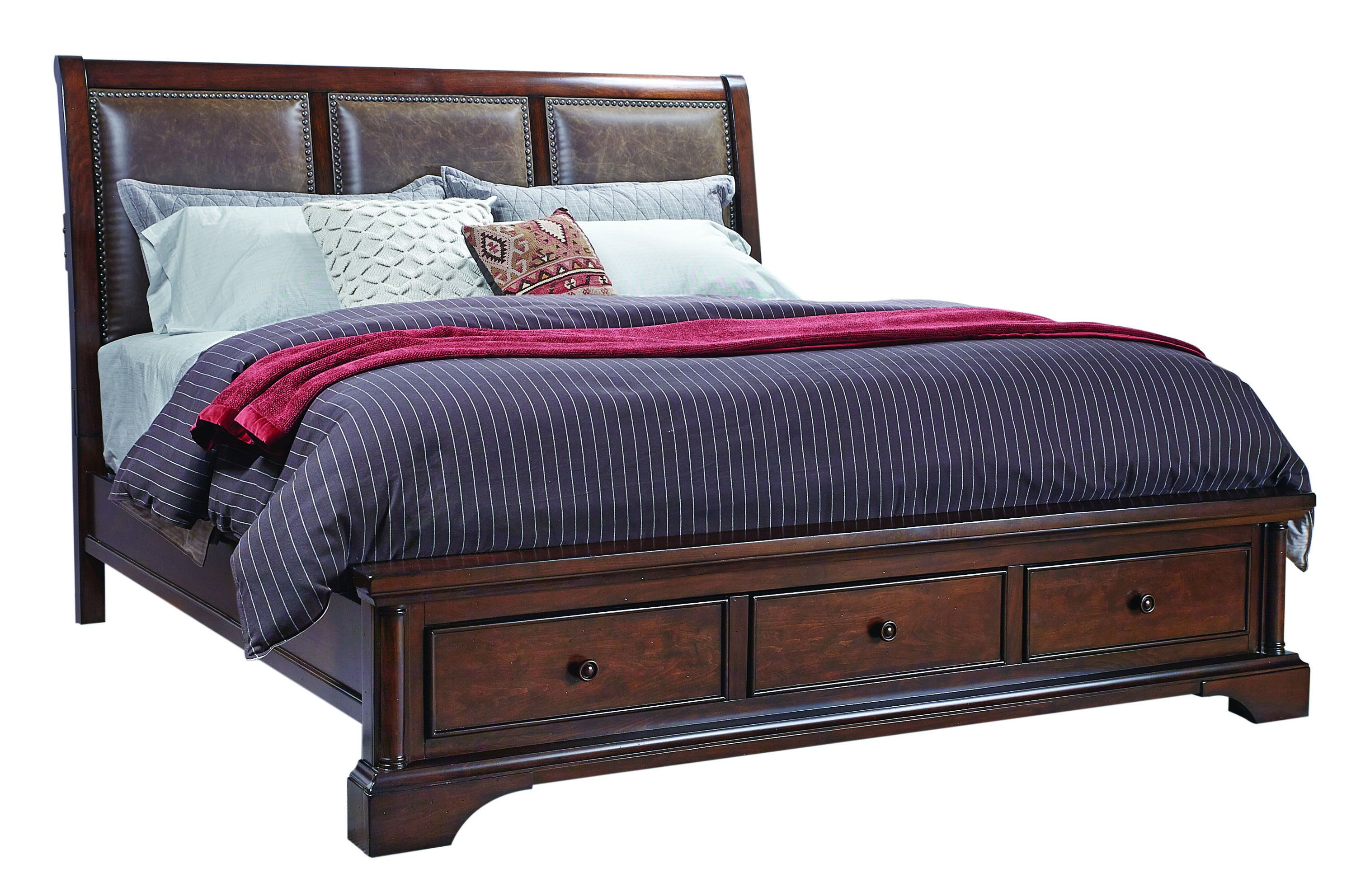 Bancroft Upholstered Sleigh Bed with Storage Footboard