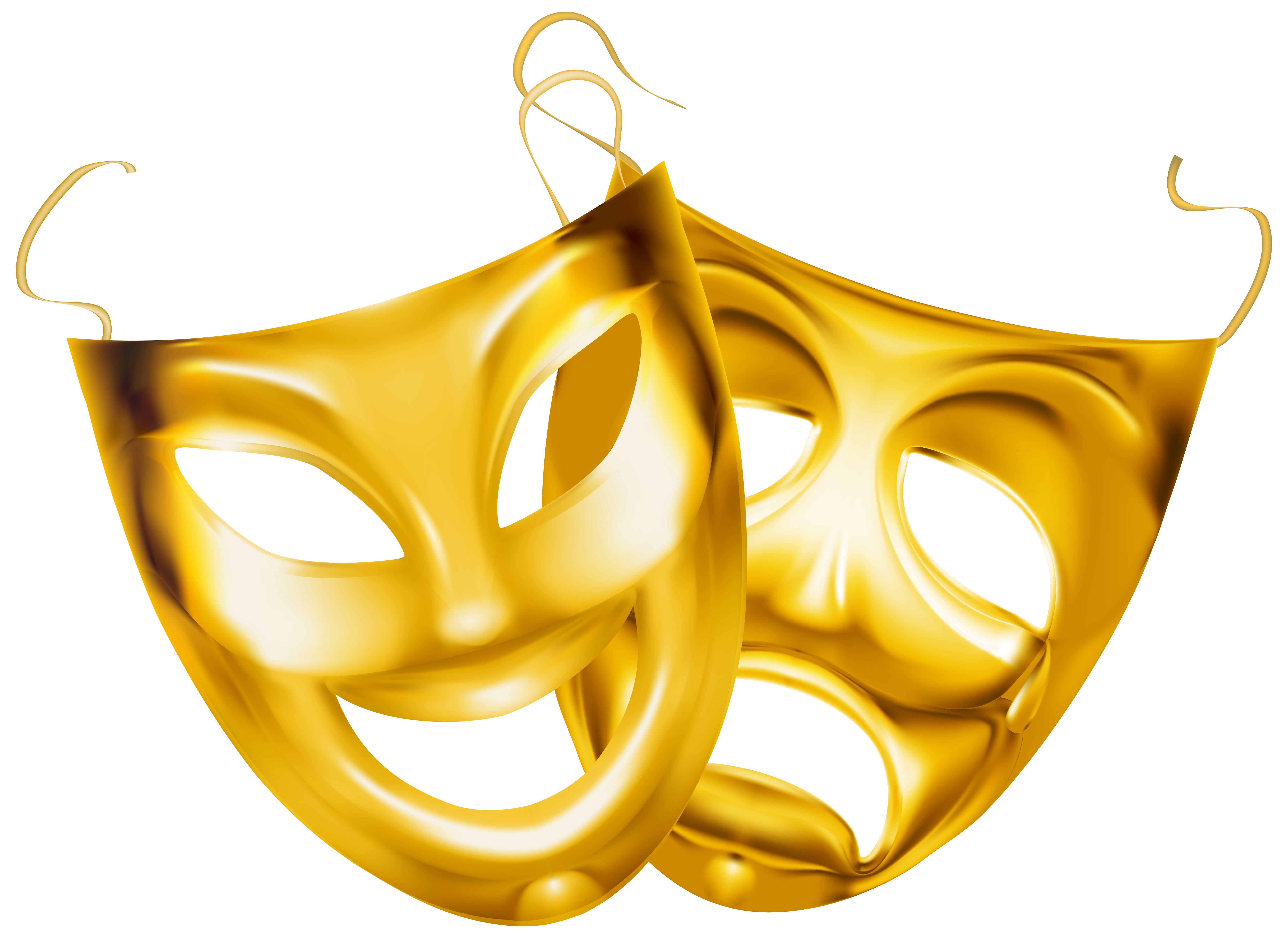 Gold Theater Masks Png Clipart Image Gallery Yopriceville High Quality Images And Transparent Png Free Clipart Theatre Masks Clip Art Free Clip Art