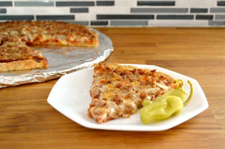 Sauberes Essen hausgemachte Pizza Sauberes Essen hausgemachte Pizza