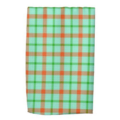 Mint Green Bath Towels Enchanting Coral Mint Green Plaid Kitchen And Bath Towel  Kitchen Gifts Diy Decorating Inspiration