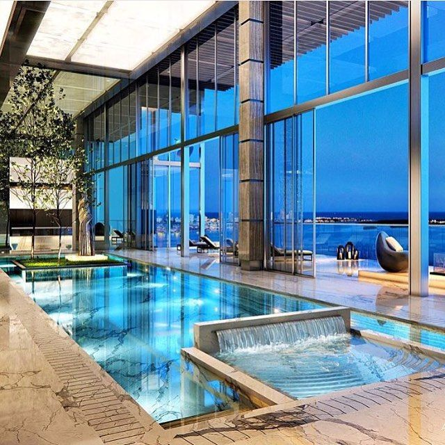 Beautiful Houses With Pools: Pent House, Indoor
