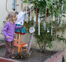 Filth Wizardry: The music tree--My kids would love this,  #Filth #Kids #love #Music #naturalplaygroundideasmusicwall #treeMy #Wizardry