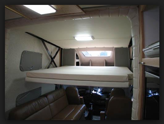 Adjustable Upper Bed In Camper Van Camper Beds