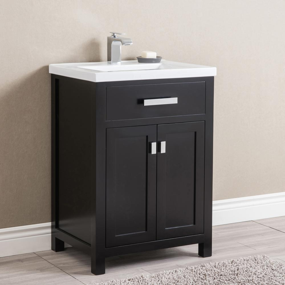 Water Creation Myra 24 In Bath Vanity In Espresso With Integrated