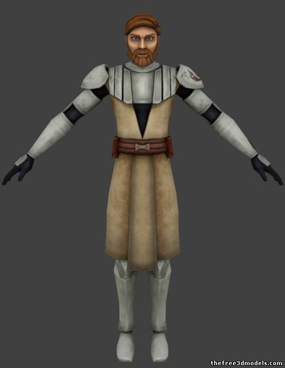 Obi Wan Kenobi - Clone Wars Version Minecraft Skin ...