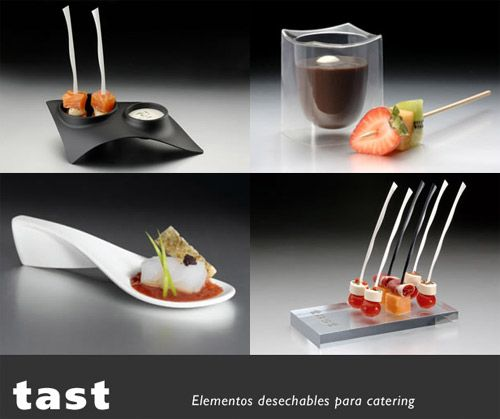 Tast utensilios desechables para catering utensilios for Utensilios para servir comida