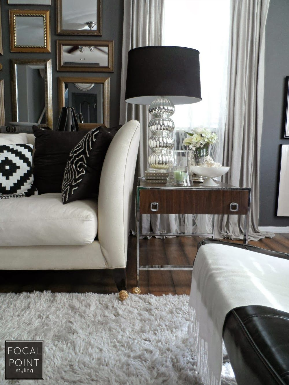 Black Lamp Shades Can Instantly Update An Existing Plus Add Drama Impact To A Living Room
