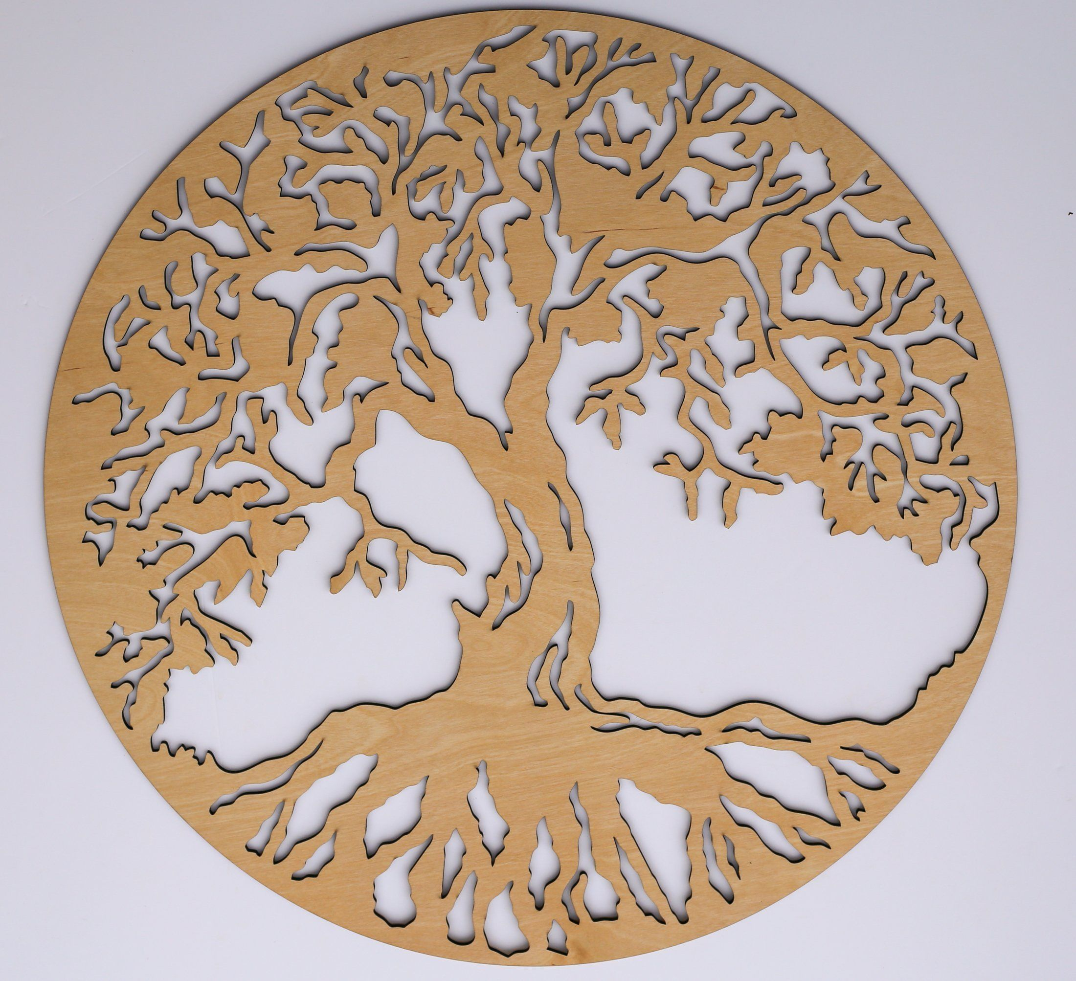 "Round Wood Wall Art tree of life round 3d 22"" wooden wall art - beautiful home decor"