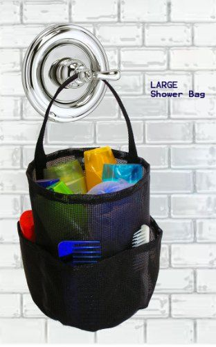 BESTSELLER! Dorm Shower Caddy - Large Black - By... $19.97