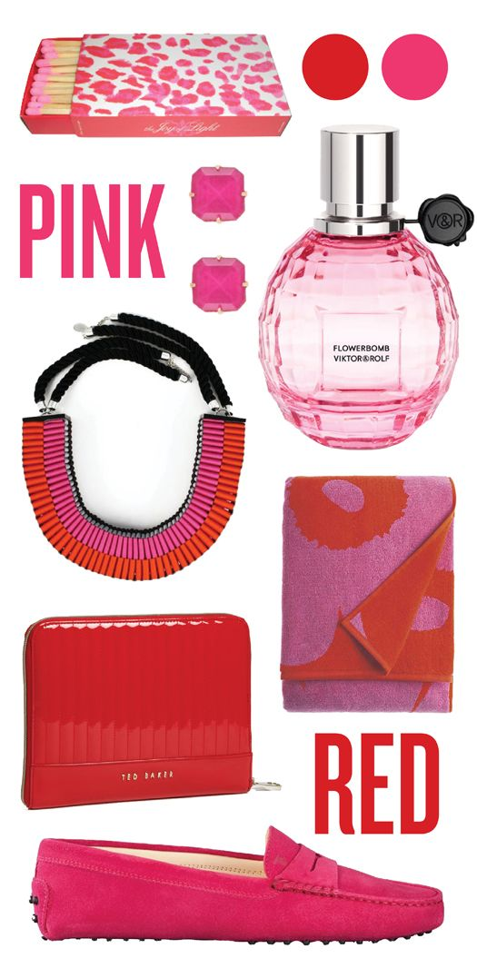 pink & red