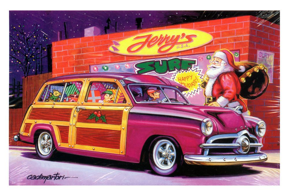 Hot Rods Christmas Cards - X-707 - One (1) Pack of 10 Cards ...