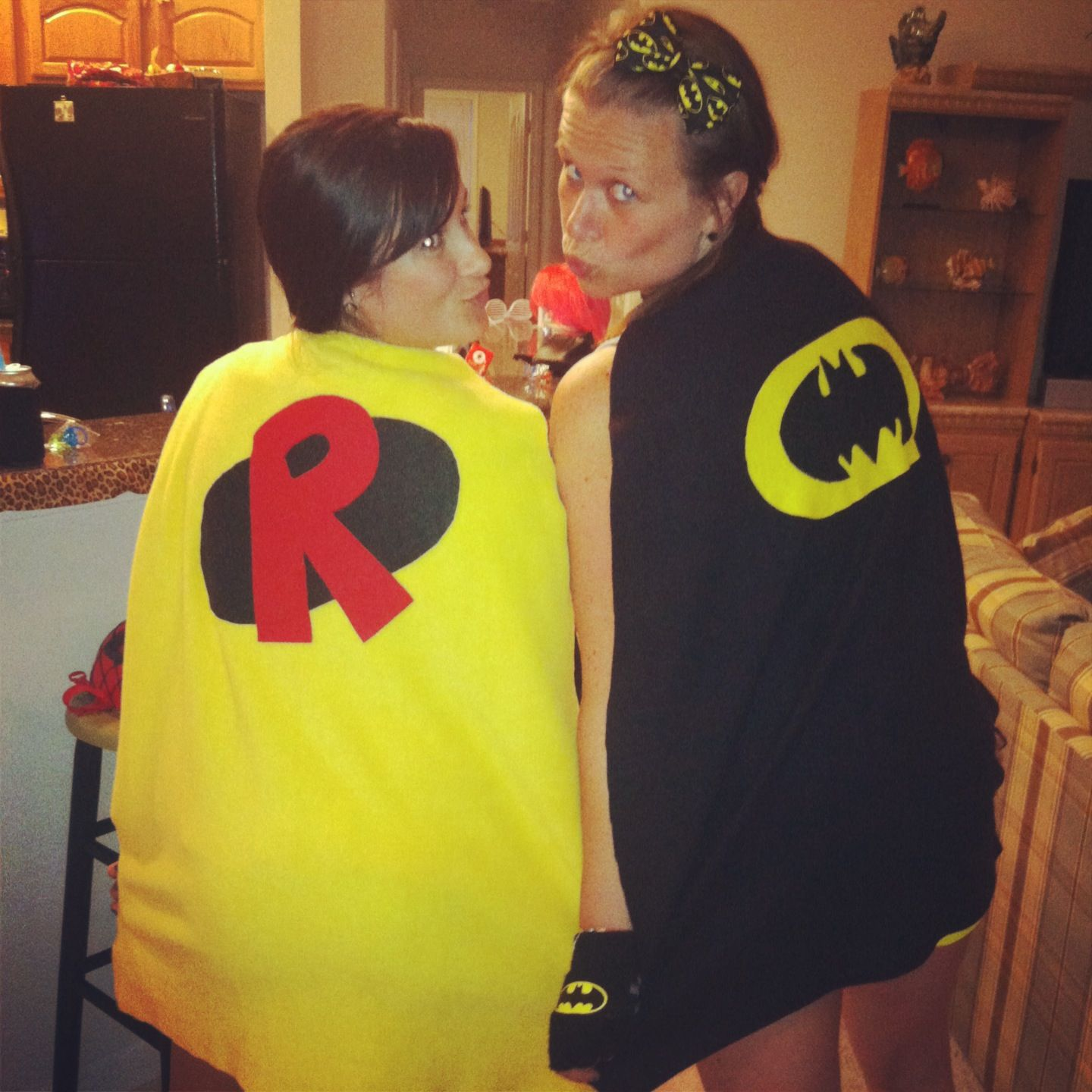 Hand made super hero capes for bachelorette party theme. Bride ...