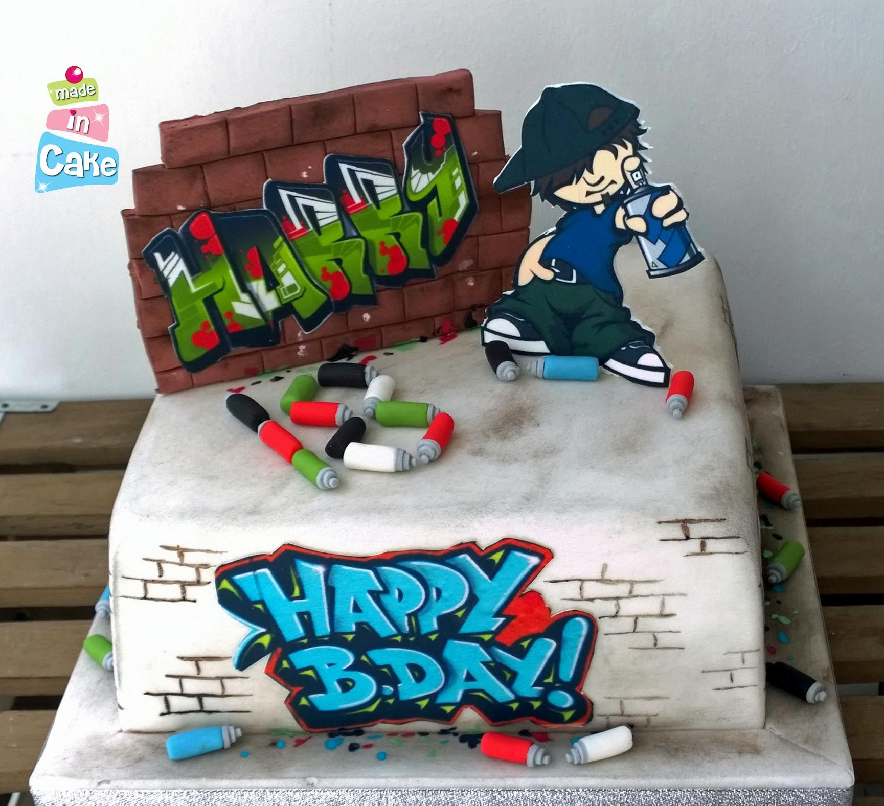 Graffiti cake | Cupcakes Ideas | Pinterest | Graffiti, Cake and ...