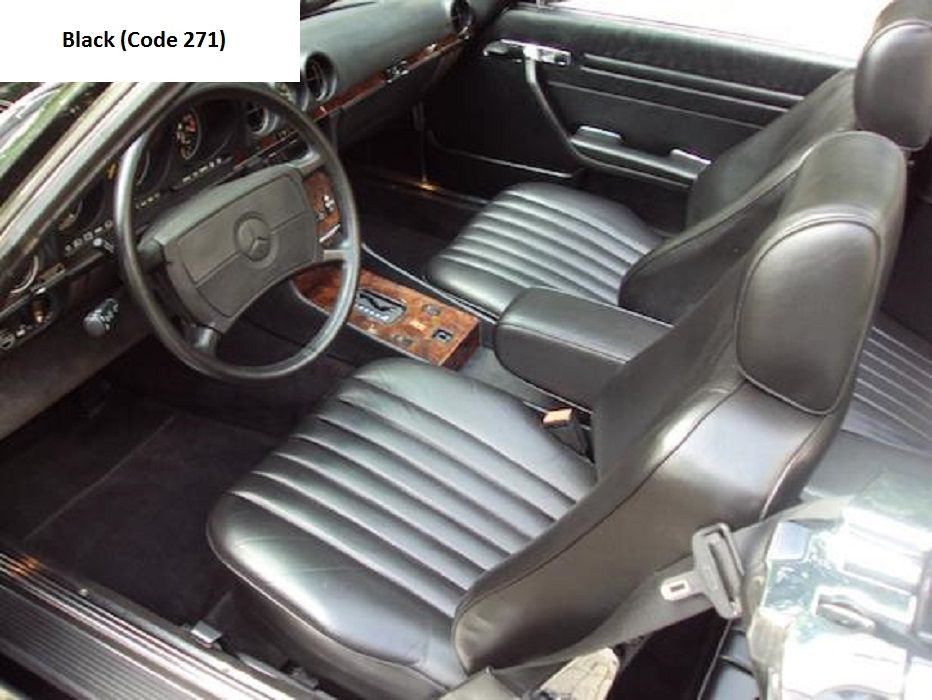 mercedes r107 560sl interior black mercedes r107 560sl. Black Bedroom Furniture Sets. Home Design Ideas