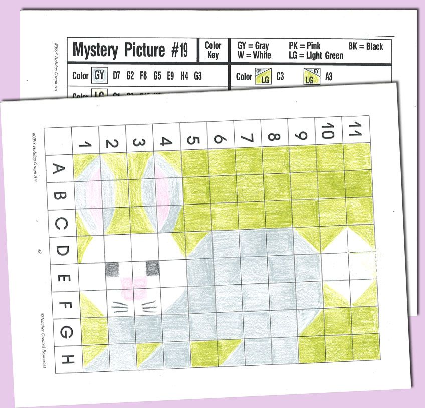 Holiday Graph Art | Easter, Math and School