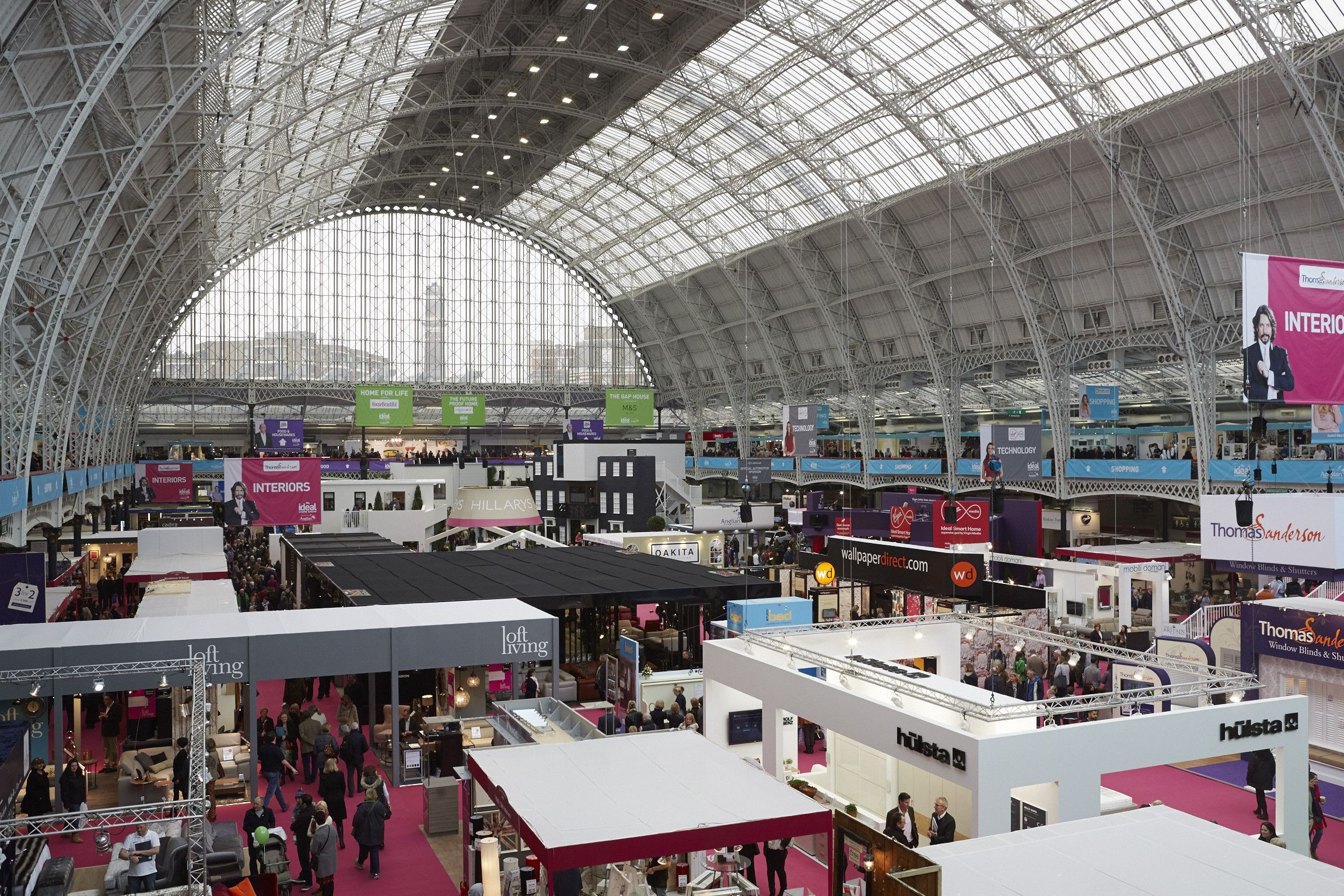 a sneaky picture of this year s venue olympia london during the