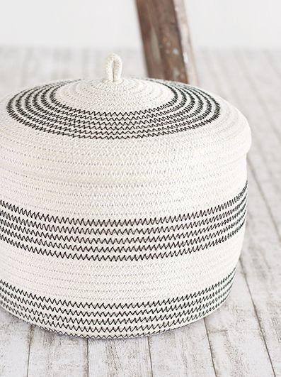 diy rope basket n hen korb kaufen korb h keln und. Black Bedroom Furniture Sets. Home Design Ideas