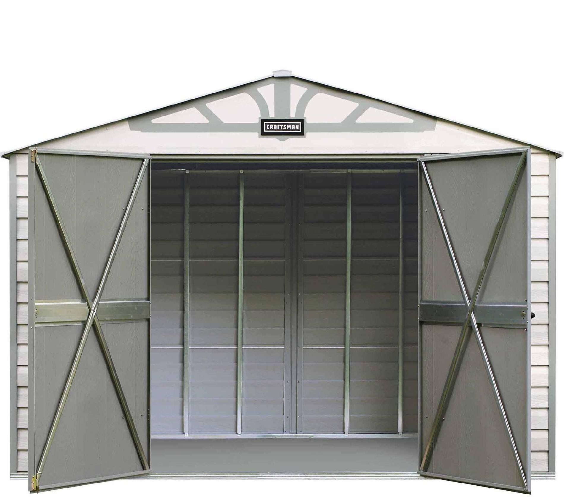 Craftsman 10 X 7 Ft Vinyl Coated Steel Shed Plus 14 75 Points Steel Sheds Shed Craftsman