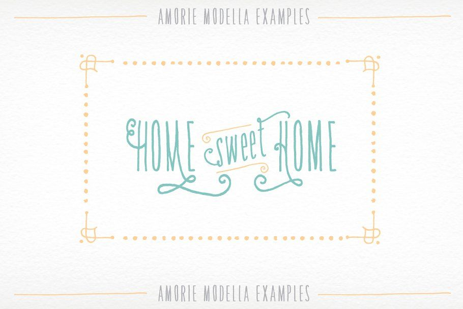 Amorie Modella Family | Kimmy Design | Hand drawn fonts, How