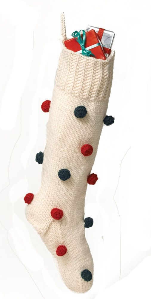 Decorated Christmas Stocking in Lion Brand Wool-Ease - 50457 Free ...