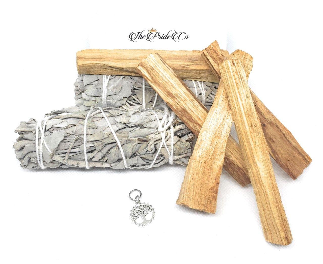 California White Sage and Palo Santo Stick/Wood. Used to