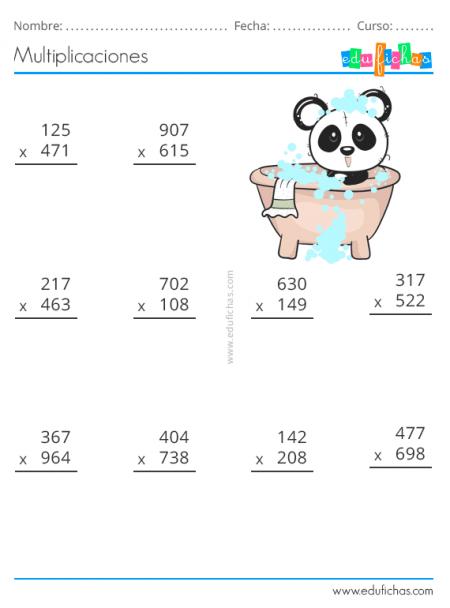 Multiplicaciones Ejercicios Para Multiplicar Por Dos Y Tres Cifras Pdf En 2020 Multiplicacion Juegos Multiplicaciones Juegos Para Multiplicar