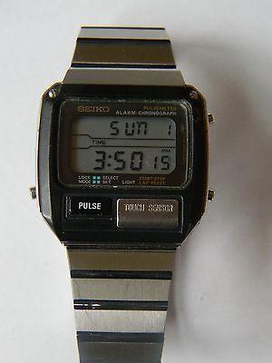 f749ec3f1 VINTAGE SEIKO ALIENS LCD WATCH PULSEMETER S229-5019 NEW BATTERY ...