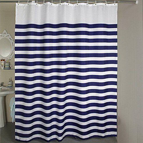 Shower Curtains Nautical Stripes Striped Shower Curtain Set