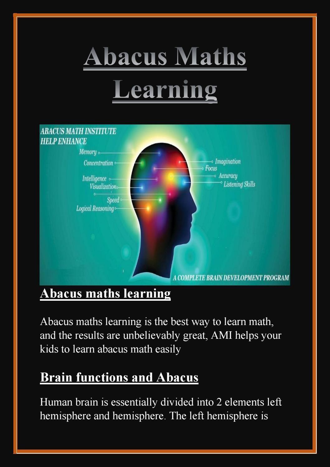 Abacus maths learning - Abacusmathinstitute | Pinterest | Abacus ...