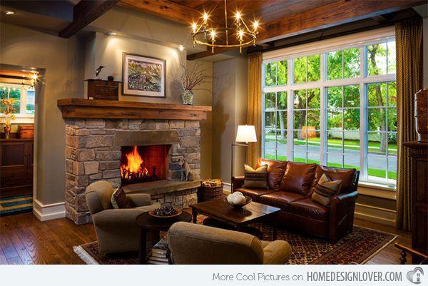 15 Warm Craftsman Living Room Designs Home Design Lover Craftsman Living Rooms Living Room Warm Romantic Living Room