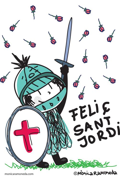 36 Ideas De Etiquetes Sant Jordi Jordi Manualidades Sant Jordi Feliç Sant Jordi