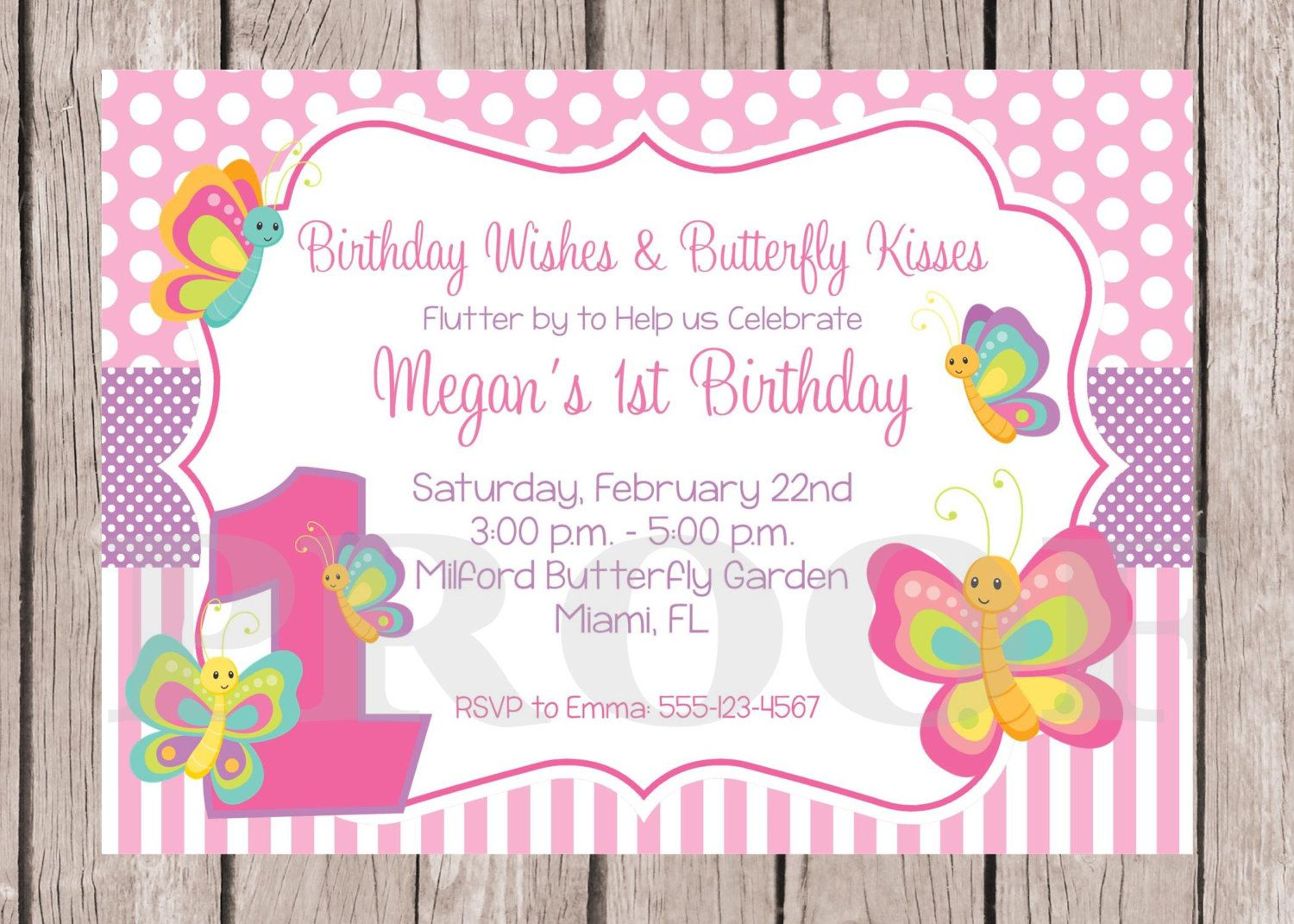 PRINTABLE Butterfly Birthday Party Invitation / by ciaobambino ...