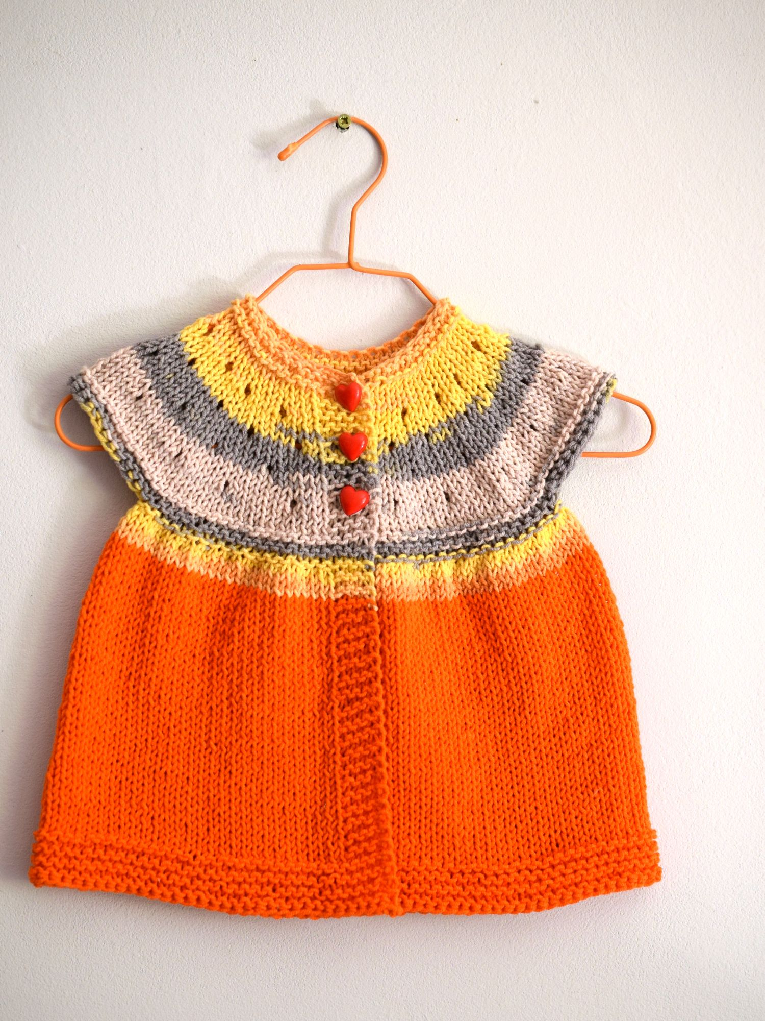 This Lovely Orange Baby Cardigan Was Hand Knit By Me From Soft
