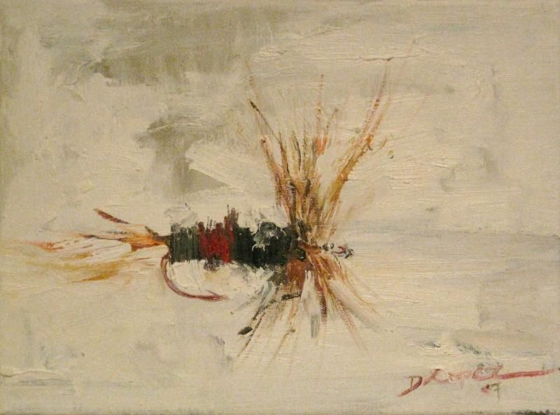 Only kind of impressionism i like dry fly oil painting for Fly fishing art