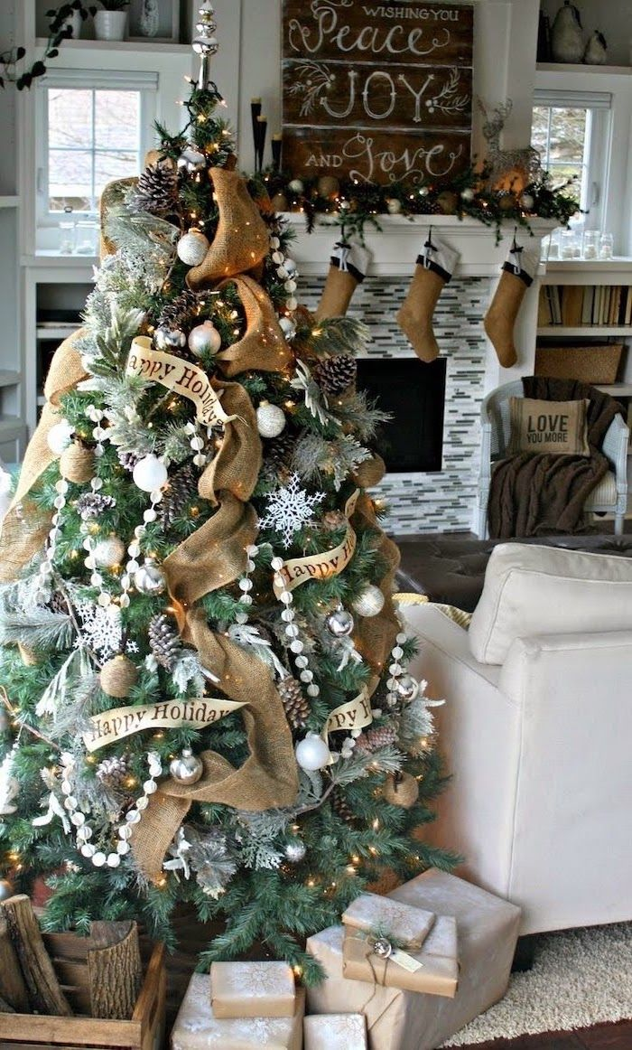 ▷ 1001  ideas on how to decorate a Christmas tree #howtoputribbononachristmastree