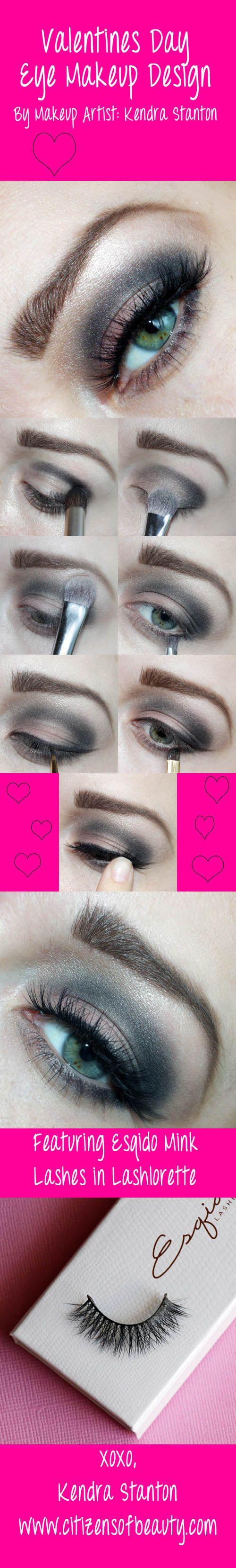 Valentines Day Eye Look 2: Featuring Esqido False Lashes #valentinesday #eyedesign #Eyes @citizensofbeauty @Ruth Estrada Planas-Shelton Cosmetics @ESQIDO Lashes Lashes Lashes