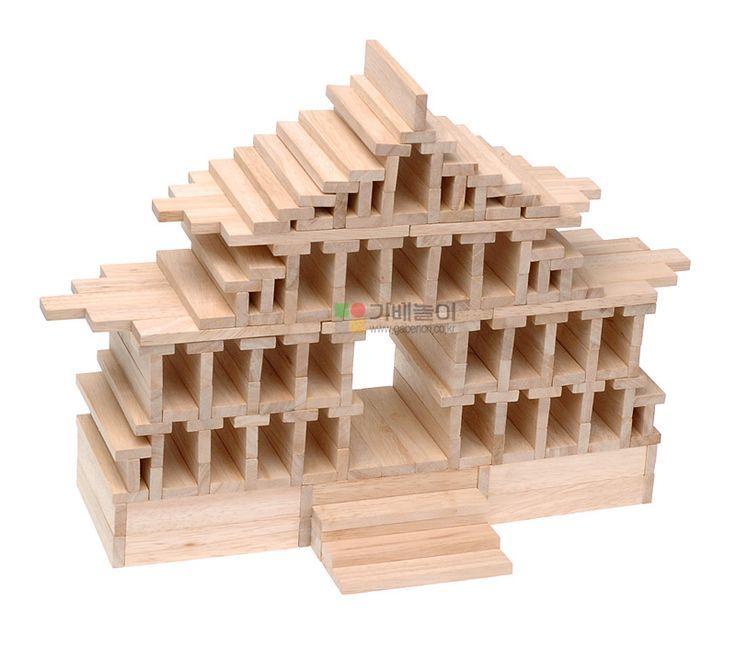 Kapla tempel kapla pinterest tempel holz basteln for Construire une maison en kapla