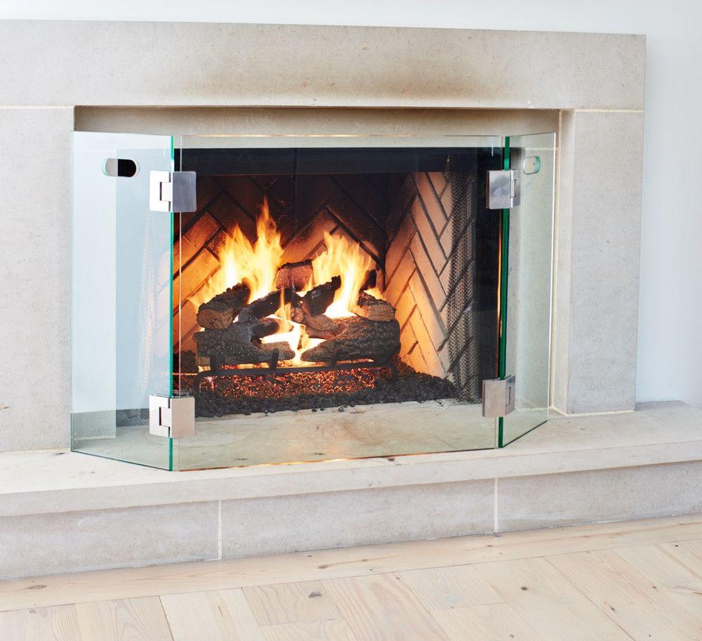 Modern Fireplace Screen Wisteria Modern Fireplace Glass