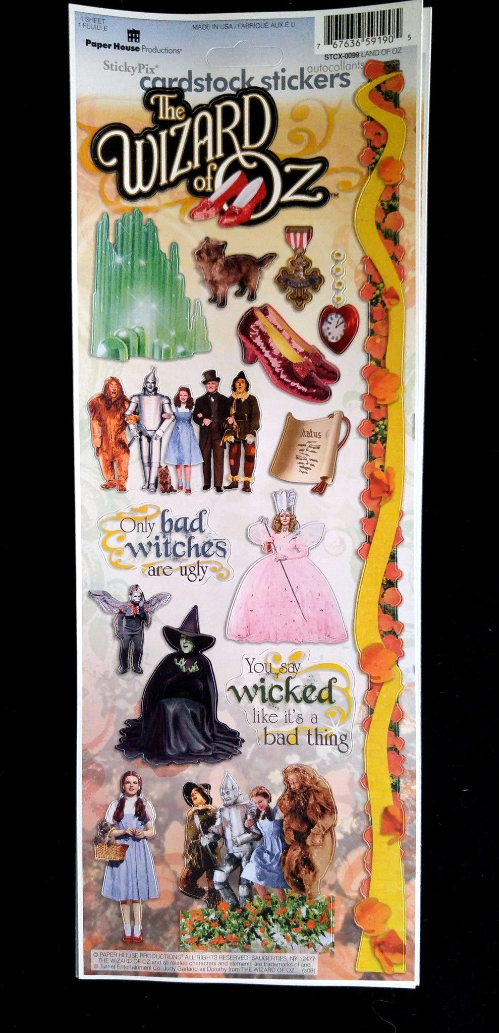 Wizard of Oz Cardstock Stickers Free stickers - Wizard Of Oz Halloween Decorations