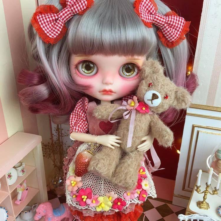 クマのぬいぐるみ 可愛い 人形 ドール カスタム 可愛い