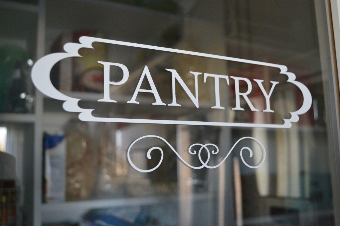 Pantry Vinyl Sign