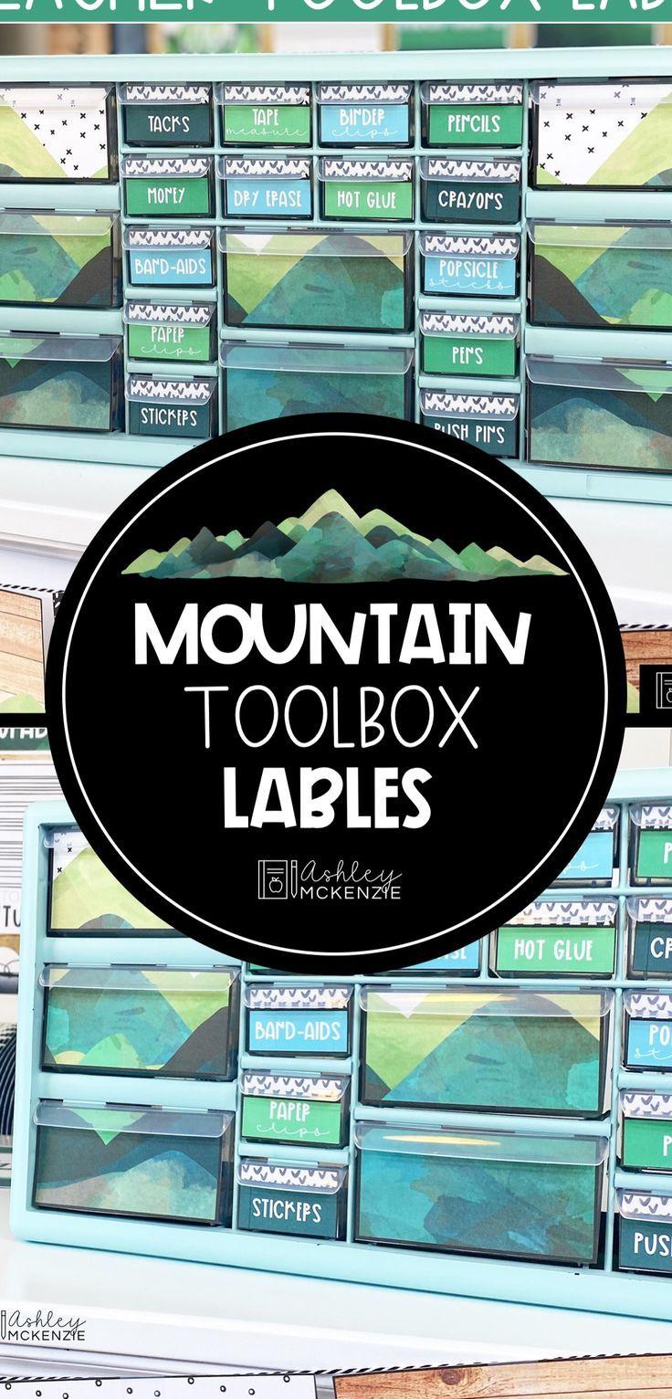 Mountain Teacher Toolbox Labels