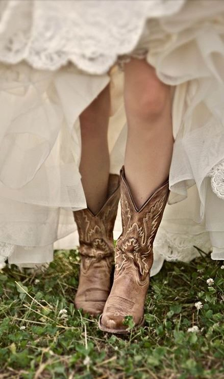 Pretty cowboy boots from Cavender's.