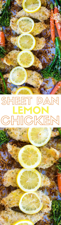 Lemon Parmesan Chicken one sheet pan lemon parmesan chicken & vegetables | recipe