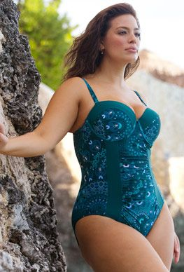 412d8161b2 Yin Cut Out Mesh Underwire One Piece Swimsuit | Curvy Girls | Plus ...