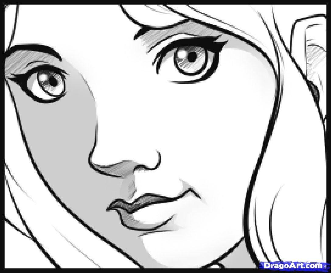 How To Draw An Easy Face Drawing Tutorial