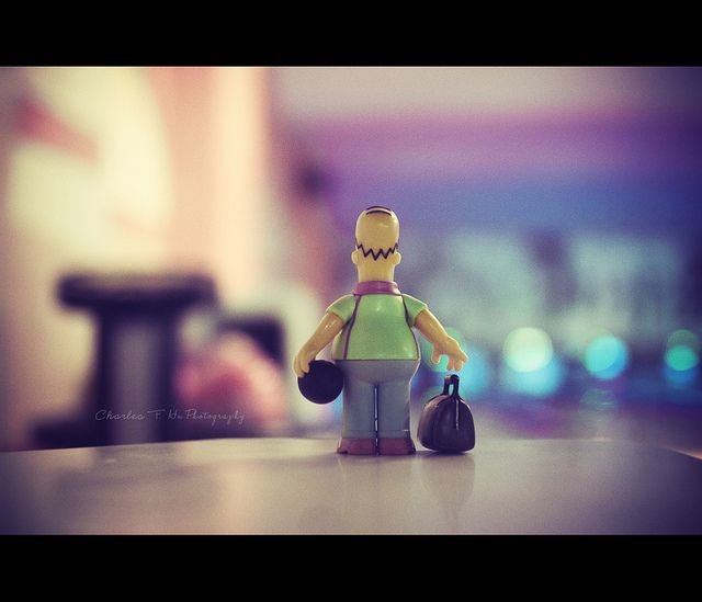 Homer Bowling by fei* BUSY!!!, via Flickr