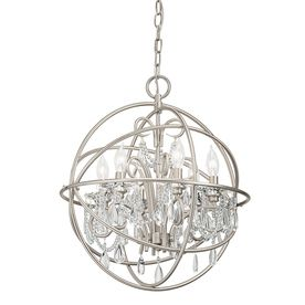 kichler lighting 6 light brushed nickel chandelier 299 at lowes 21w x foyer lightingdining room - Brushed Nickel Dining Room Light