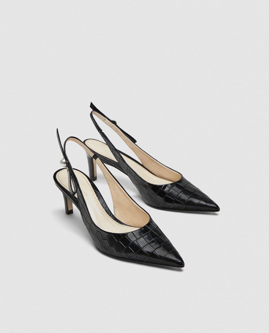 66ed4b21174 SLINGBACK LEATHER HIGH HEEL COURT SHOES-High-heels-SHOES-WOMAN ...