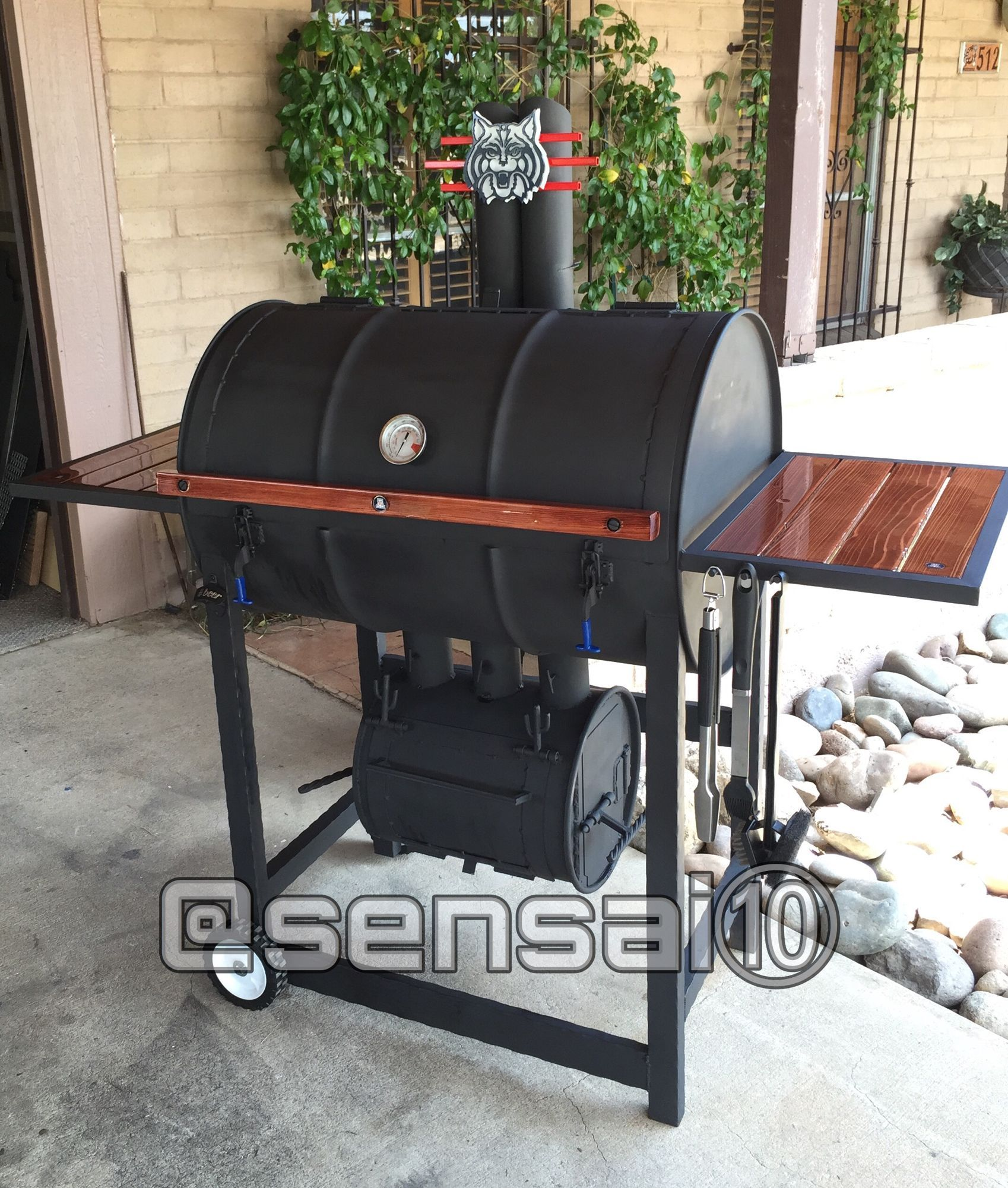 Image gallery barrel smoker custom bbq grills diy bbq